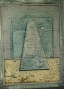 """Robert T. H. Smith (Scottish B 1938) """"Opening"""" Oil on Board, 47.5cm x 35.5cm, Dated 1980 to verso"""