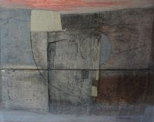 """Robert T. H. Smith (Scottish B 1938) """"Conjunction"""" Oil on Board, Signed and Dated 68 to lower right,"""