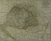 Justus Perthes, Map of Hungary, Gotha Justus Perthes marked to the base of Map, Dated 1863, 28.5cm x