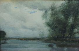 "Tom Scott RSA RSW (Scottish 1854-1927) ""Ettrick Carterhaugh"" Signed to lower right, Watercolour,"