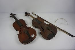 Antique Violin circa late 19th / early 20th century, Having Label to the interior for The Ruggeri