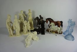 """Quantity of Figures, To include Parian style Figures, Beswick Dapple Grey Horse Figure, """"Spirit of"""
