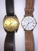 Roamer Vintage Anfibio Quartz Gents Wristwatch, The Gold coloured Dial Having Baton Markers, With