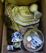 Two Boxes of China, To include Beswick and Copeland Spode etc