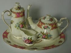"""Box of Tea China, To include a part set of """"Lady Carlyle"""" by Royal Albert and a part set by Aynsley,"""