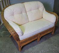 Wicker Sofa, 90cm high, 146cm wide