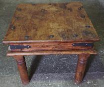 Indonesian Hardwood Coffee Table, 51cm high, 61cm wide