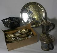 Box of Silver Plated Wares and Cutlery