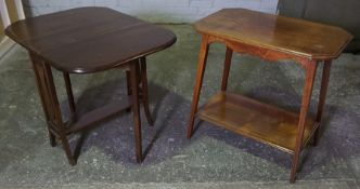 Mahogany Sutherland Table, 61cm high, 79cm long, Also with a Mahogany Occasional Table, (2)