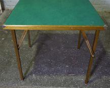 Vintage Folding Card Table, 81cm high, 81cm wide
