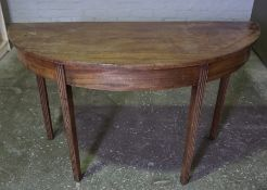 Mahogany D End Side Table, 66cm high, 122cm wide