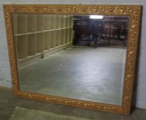 Modern Gilt Framed Wall Mirror, 92cm high, 118cm wide
