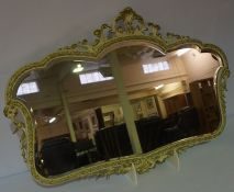 French Style Painted Wall Mirror, 58cm high, 86cm wide