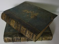 Two Victorian Leather Bound Volumes of Shakespeares Works, Imperial Edition, Edited by Charles