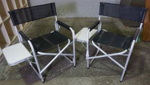 Pair of Folding Directors Chairs, 79cm high, (2)