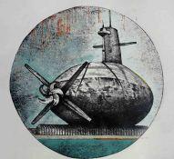 Georgina Bown SSA (British, B.1965), Sub-Space 1, one off mono print, unsigned, artist label to