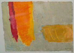 Stephen Ratomski (Scottish, B.1948), Calm Sunlight Sestre Levante, acrylic on khadi paper, signed to