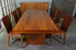 Barker & Stonehouse Hardwood Dining Room Suite, Comprising of a Dining Table, Sideboard and Six