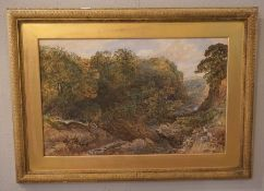 "G.Dodifon ""Country River Landscape Scene"" Watercolour, Signed and Dated 74 to lower left, 44.5cm x"