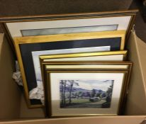 Box of Assorted Prints, (7)