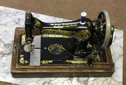 Vintage Portable Oak Cased Sewing Machine