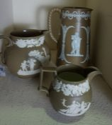 David Wilson, Earthenware Jug, circa 1810, Damaged, Also with two similar Earthenware Jugs, And with