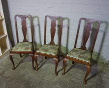 Set of Four Vintage Mahogany Splat Back Dining Chairs, 104cm high, (4)