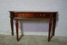 Hardwood Hall Table, 78cm high, 140cm wide, 46cm deep