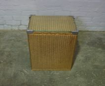 Lloyd Lloom Gilt Wicker Laundry Basket by Lusty, 55cm high, 47cm wide