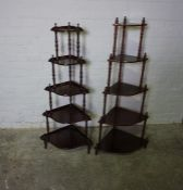 Two Reproduction Whatnots, 130cm high, Also with a Coffee Table, Magazine Rack and Bedside Table, (
