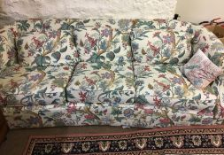 Upholstered Three Seater Sofa, 68cm high, 220cm wide