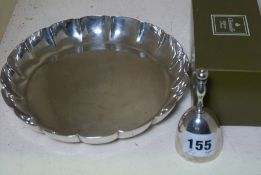 Christofle of Paris Silver Plated Bell, With Box, Also with a Silver Plated Dish, (2)