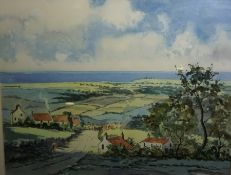 "Tom Higgins (Scottish) ""The Kingdom of Fife"" Watercolour, 35cm x 46cm"
