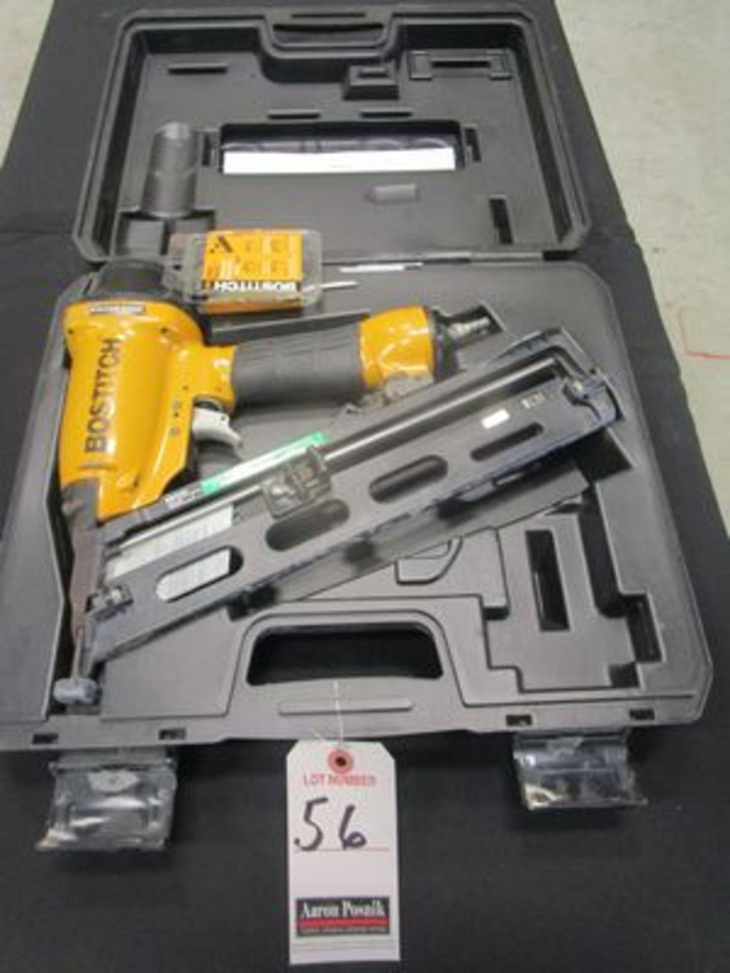 Lot 56 - BOSTITCH PNEU. NAIL GUN W/ CASE