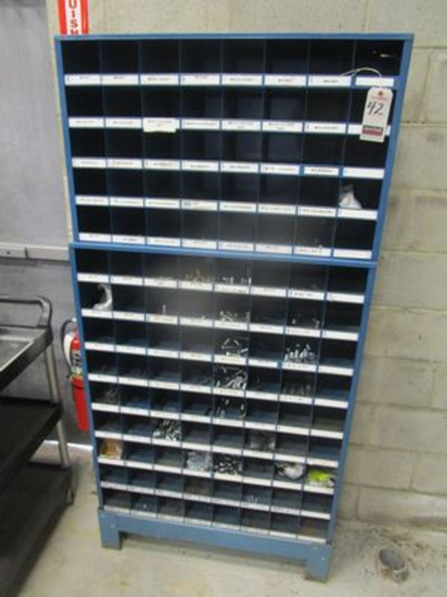Lot 42 - ASS'T METAL PARTS CABINETS W/ NUTS, BOLTS, EYELETS, ETC.