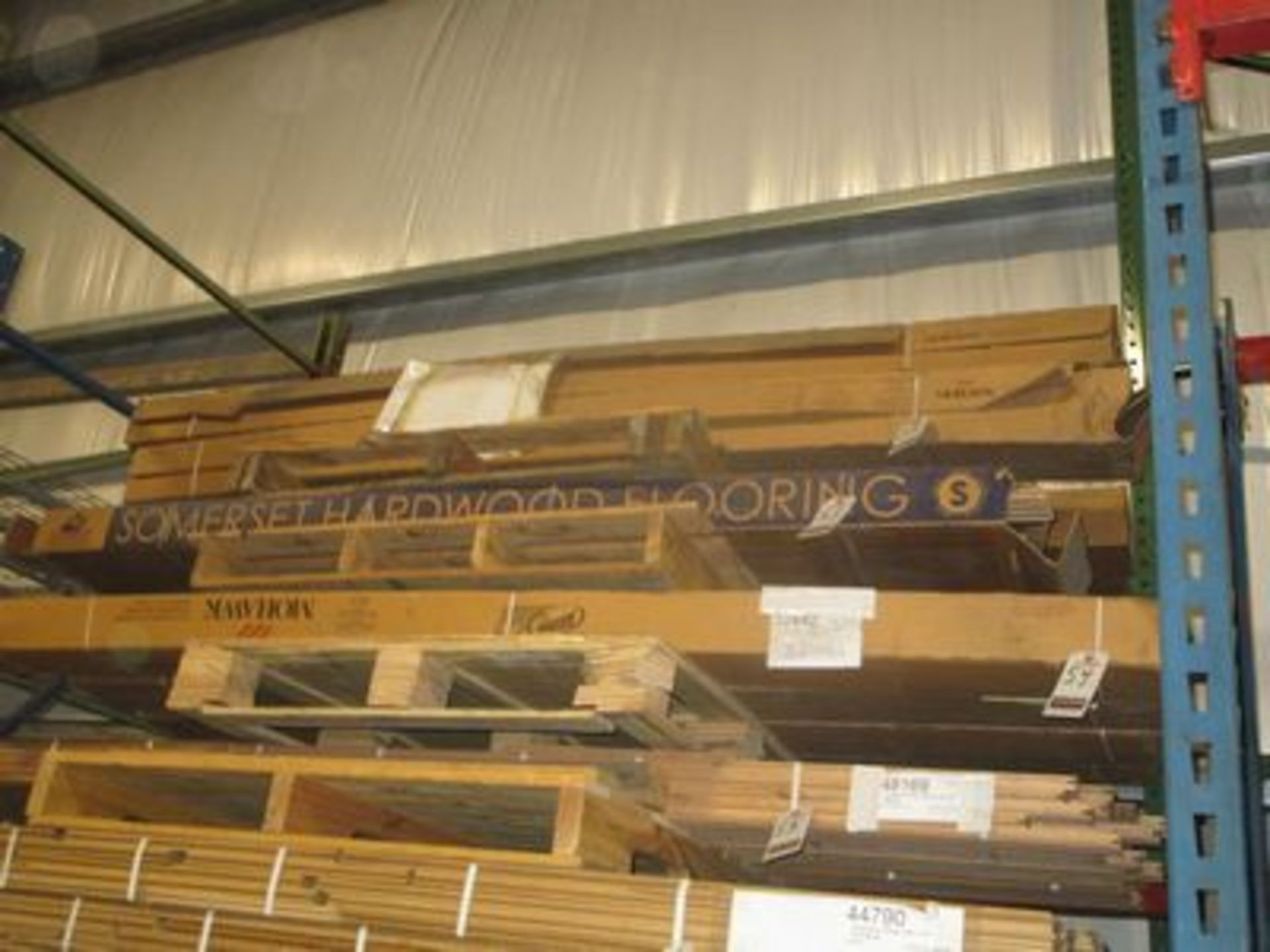 Lot 54 - BOXES ROCKINGHAM SOLID HICKORY NATURAL T & G HARDWOOD FLOORING, (17 S/F PER BOX)