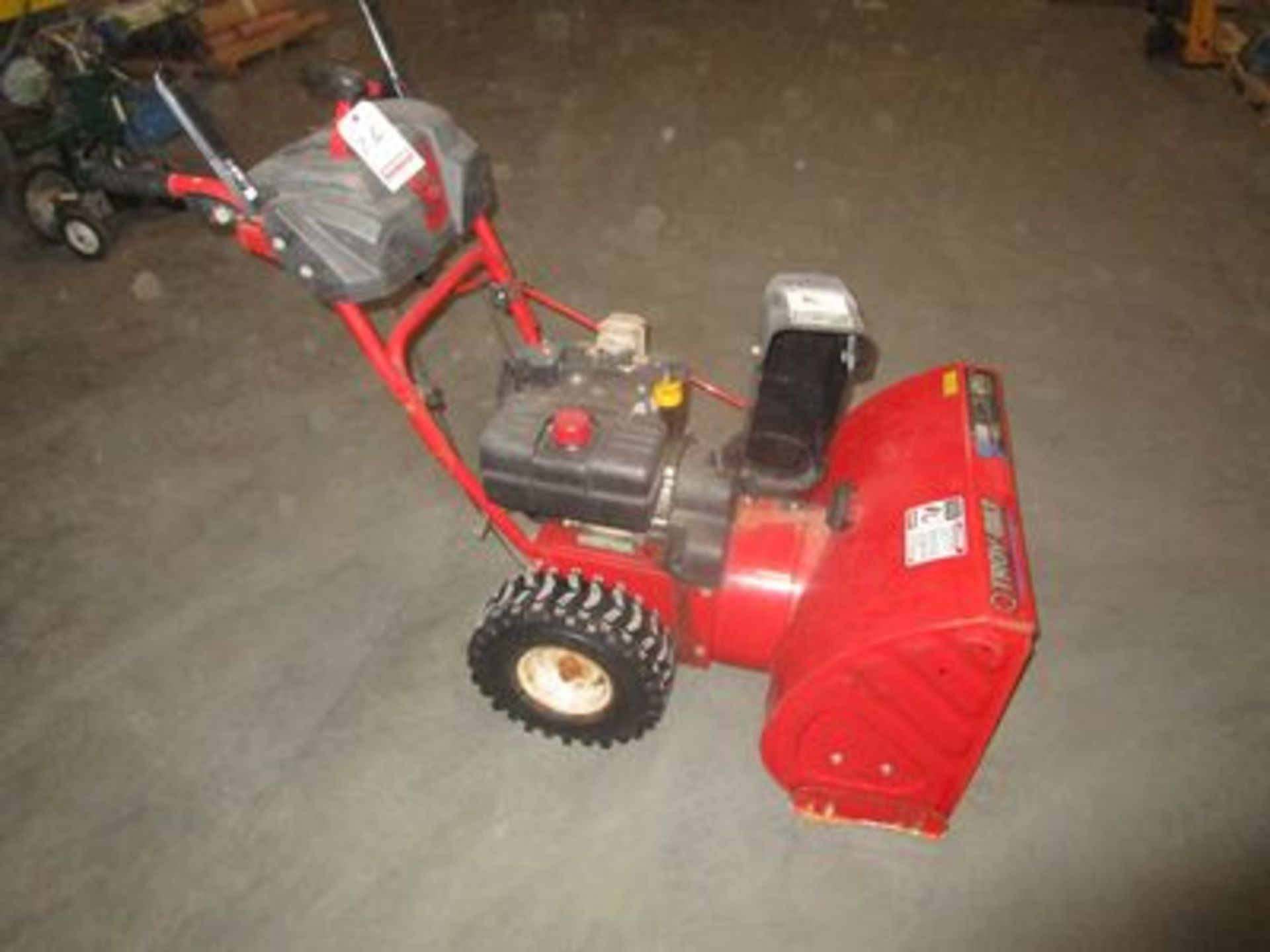 "Lot 26 - TROY-BILT 26"" STORM 8 1/2 H.P., GAS SNOW BLOWER"