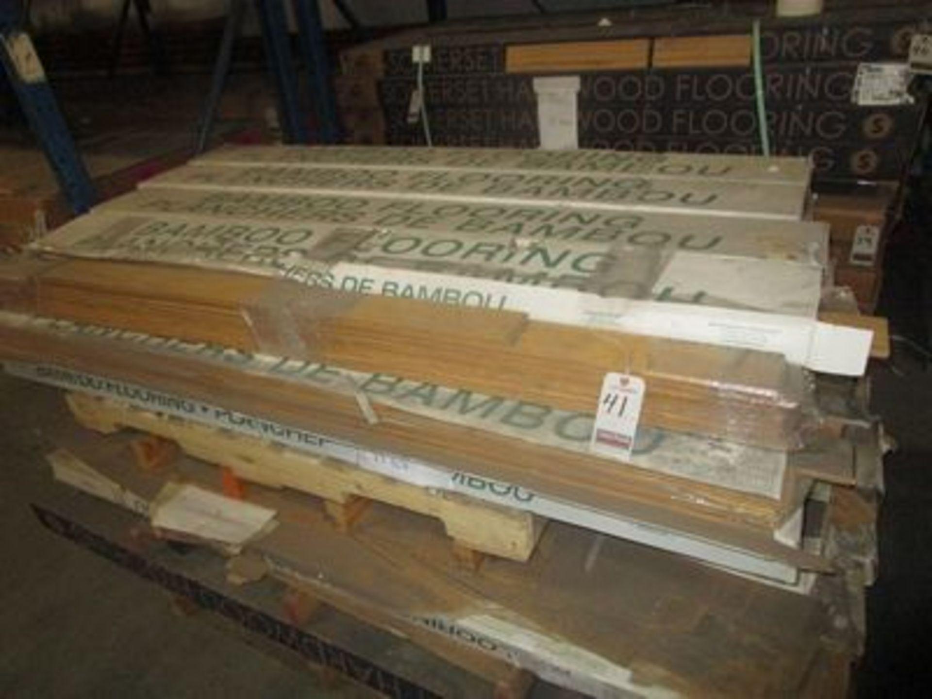 "Lot 41 - BOXES NATURAL 3 3/4""X1/2"" T & G BAMBOO FLOORING, (22 S/F PER BOX)"