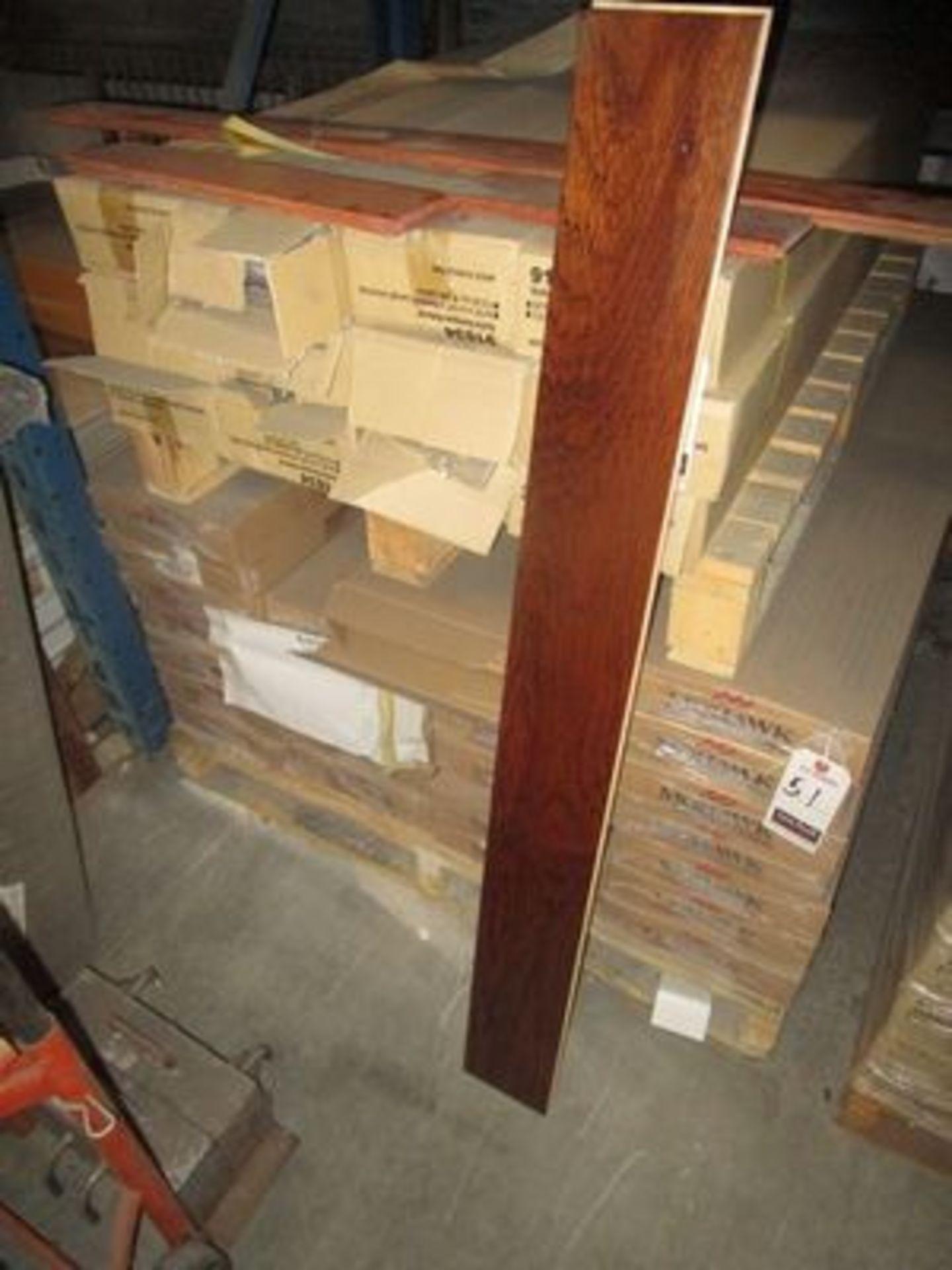Lot 51 - ASS'T BOXES MOHAWK HICKORY TEAK T & G FLOORING, (23 S/F PER BOX)