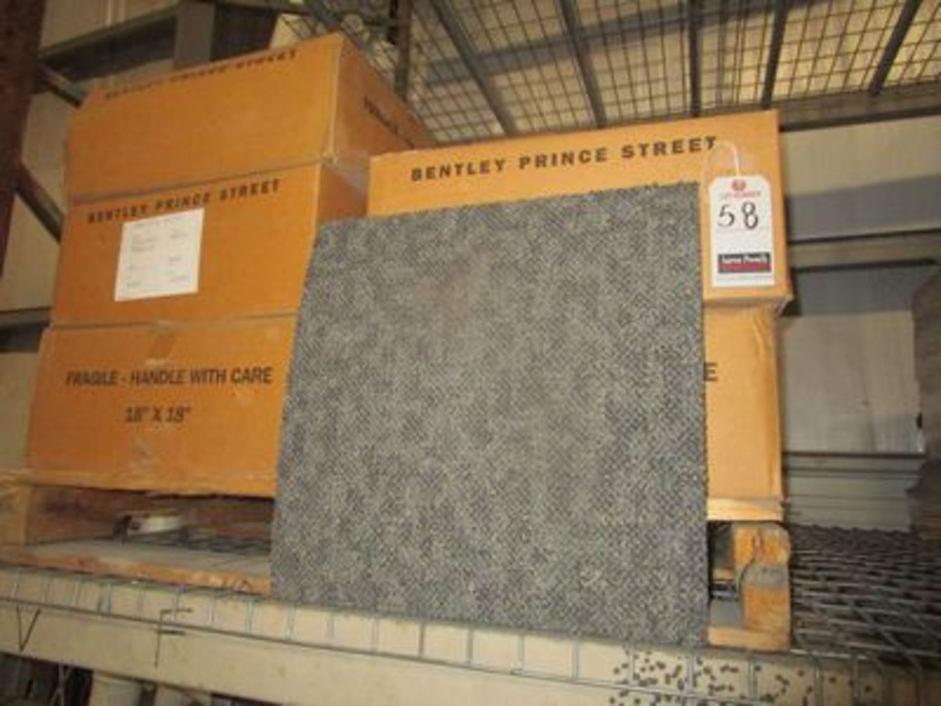 "Lot 58 - BOXES BENTLEY PRINCE 18""X18"" CARPET SQUARES, (20 PCS. PER BOX)"