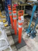 CORTINA SAFETY POLY SAFETY STANCHIONS W/ REFLECTORS