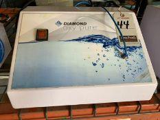 DIAMOND OXY PURE OXYGEN FACIAL MACHINE, 110V, 4-AMP, S/N DOP-2011-010-RD