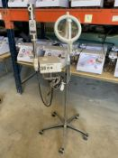 MAGIC MIST PORT. OZONE HIGH FREQUENCY STEAMER W/ 5 DIOPTER MAGNIFING LAMP, S/N 742709