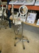 MAGIC MIST PORT. OZONE HIGH FREQUENCY STEAMER W/ 5 DIOPTER MAGNIFING LAMP, S/N 755560