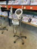 MAGIC MIST PORT. OZONE HIGH FREQUENCY STEAMER W/ 5 DIOPTER MAGNIFING LAMP, S/N 754266
