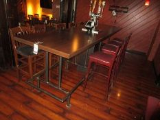 12'X3' FORMICA TOP TABLE W/ METAL FRAMED LEGS