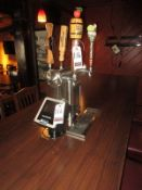 FREE STANDING 4-SPIGOT DRAFT BEER SYSTEM W/ POUR RESPONSIBLY UNIT