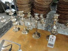 ASS'T SILVER PLATED CANDELABRAS