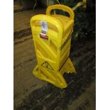 RUBBERMAID 12' PORT. POLY SAFETY BARRIER