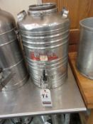 CECILWARE 5 GAL. S.S. 1-SPIGOT THERMAL DRINK DISPENSER